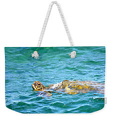 Honu Hawaiian Green Sea Turtle Weekender Tote Bag