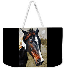 Weekender Tote Bag featuring the photograph Horse by Savannah Gibbs