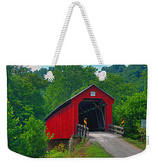Hune Covered Bridge Weekender Tote Bag
