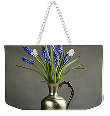 Hyacinth Still Life Weekender Tote Bag by Nailia Schwarz