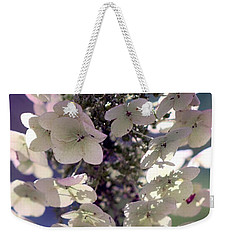 Weekender Tote Bag featuring the photograph Hydrangea  by Debra Forand