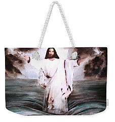 Weekender Tote Bag featuring the painting I Am by Hazel Holland