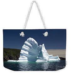 Weekender Tote Bag featuring the photograph Iceberg by Liz Leyden