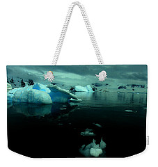 Weekender Tote Bag featuring the photograph Icebergs by Amanda Stadther