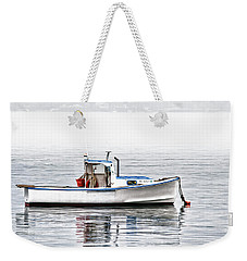 Weekender Tote Bag featuring the photograph Idle Mooring Pillow by Richard Bean