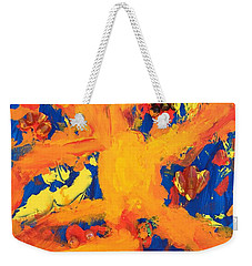 Weekender Tote Bag featuring the mixed media Impact by Donald J Ryker III