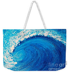 Inside The Wave Weekender Tote Bag by Teresa Wegrzyn
