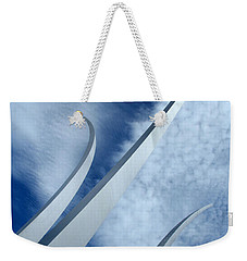 Weekender Tote Bag featuring the photograph Into The Clouds by Cora Wandel