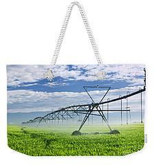 Irrigation Equipment On Farm Field Weekender Tote Bag