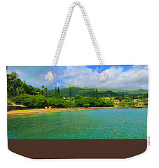 Weekender Tote Bag featuring the painting Island Of Maui by Michael Rucker