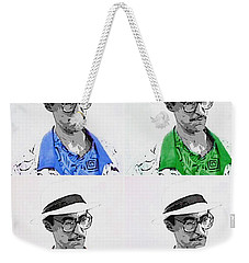 Weekender Tote Bag featuring the digital art Izzy by J Anthony