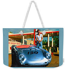 James Dean Filling His Spyder With Gas Weekender Tote Bag by Doc Braham