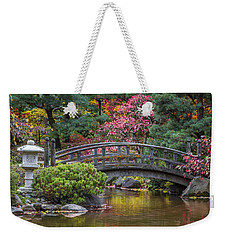 Weekender Tote Bag featuring the photograph Japanese Bridge by Sebastian Musial