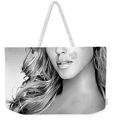 #1 Jessica Alba Weekender Tote Bag by Alan Armstrong