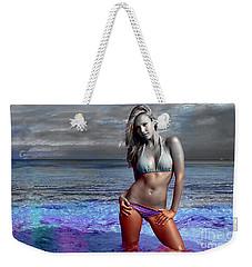 Jessica Alba Weekender Tote Bag by Marvin Blaine