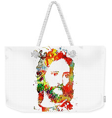 Jesus Christ - Watercolor Weekender Tote Bag by Doc Braham