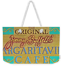 Jimmy Buffetts Margaritaville Cafe Sign The Original Weekender Tote Bag by John Stephens