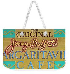 Jimmy Buffetts Margaritaville Cafe Sign The Original Weekender Tote Bag