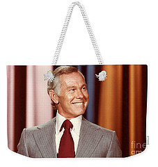 Johnny Carson Weekender Tote Bag by Marvin Blaine