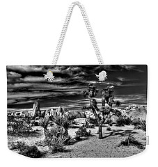 Weekender Tote Bag featuring the photograph Joshua Tree Black And White by Benjamin Yeager