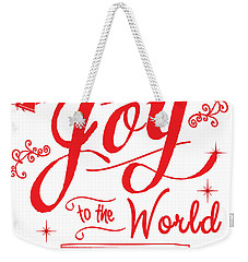 Joy To The World Weekender Tote Bag