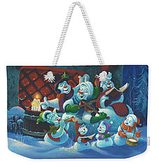 Weekender Tote Bag featuring the painting Joy To The World by Michael Humphries