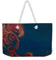 Weekender Tote Bag featuring the painting Jumbie Under De' Ocean by Robert Nickologianis