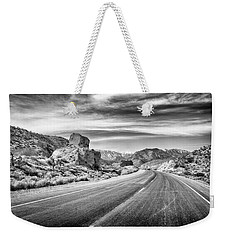 Weekender Tote Bag featuring the photograph Kyle Canyon Road by Howard Salmon