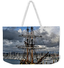 Weekender Tote Bag featuring the photograph Lady Washington by Michael Gordon