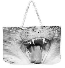 Laughing Cat Weekender Tote Bag by Jeannette Hunt