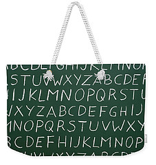 Letters On A Chalkboard Weekender Tote Bag by Chevy Fleet