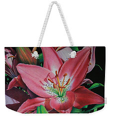 Lily's Garden Weekender Tote Bag by Pamela Clements