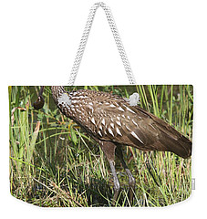 Weekender Tote Bag featuring the photograph Limpkin In The Glades by Christiane Schulze Art And Photography