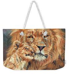 Lion Love Weekender Tote Bag by David Stribbling