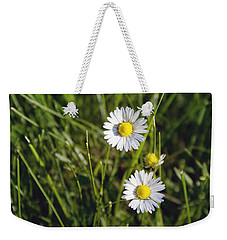 Little White Daisies Weekender Tote Bag by Cindy Garber Iverson