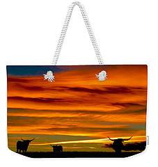 Longhorn Sunset Weekender Tote Bag