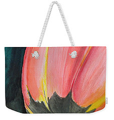 Weekender Tote Bag featuring the painting Looking Up by Betty-Anne McDonald