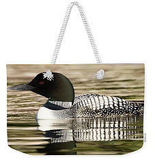 Weekender Tote Bag featuring the photograph Loon by Steven Clipperton