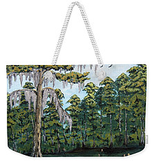 Louisiana Cypress Weekender Tote Bag by Suzanne Theis