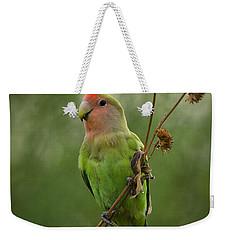 Lovely Little Lovebird  Weekender Tote Bag by Saija  Lehtonen