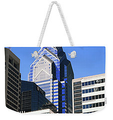 Low Angle View Of Skyline In Downtown Weekender Tote Bag