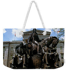 Low Angle View Of Statue Weekender Tote Bag