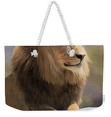Majestic Lion Weekender Tote Bag by Sharon Foster