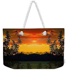Weekender Tote Bag featuring the photograph Marsh Lake - Yukon by Juergen Weiss