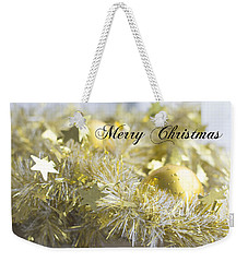 Weekender Tote Bag featuring the photograph Merry Christmas by Jocelyn Friis