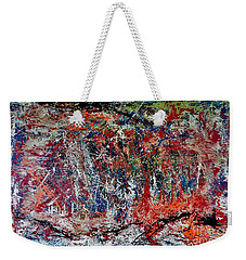 Weekender Tote Bag featuring the painting Nature Walk In The Yakima Delta by Lisa Kaiser