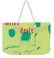 Miles Davis -  Blue Moods Weekender Tote Bag