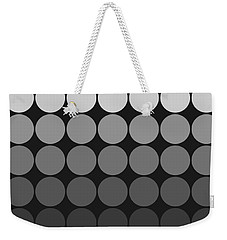 Mod Pop Gradient Circles Black And White Weekender Tote Bag