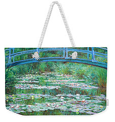 Weekender Tote Bag featuring the photograph Monet's The Japanese Footbridge by Cora Wandel