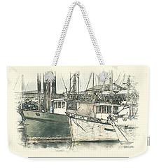 Moored Fishing Boats Weekender Tote Bag